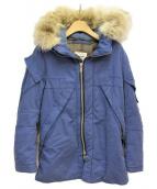 UNDERCOVERISM(アンダーカバイズム)の古着「コヨーテファー中綿コート」 ブルー