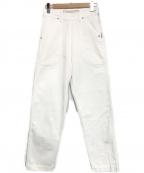 GRANDMA MAMA DAUGHTER(グランマママドーター)の古着「サイドジップデニムパンツ」|ホワイト