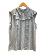 MIU MIU()の古着「ノースリーブブラウス」|スカイブルー