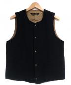 PHIGVEL MAKERS(フィグベルマーカーズ)の古着「ウールベスト」|ブラック