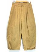 STORAMA(ストラマ)の古着「タックパンツ」|ベージュ