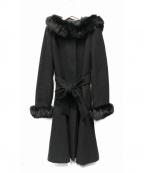 LAISSE PASSE(レッセパッセ)の古着「2WAYフードロングコート」|ブラック
