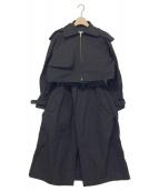 TOGA PULLA(トーガプルラ)の古着「Shape memory polyester coat」|ブラック