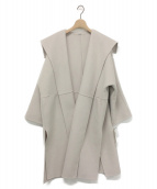 Mila Owen(ミラオーウェン)の古着「衿デザインハーフコート」|ベージュ