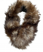 SAGA FOX(サガフォックス)の古着「ファーティペット」|ブラウン