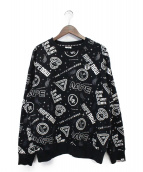 AAPE BY A BATHING APE(エーエイプバイアベイシングエイプ)の古着「プリントスウェット」|ブラック