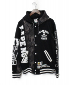 AAPE BY A BATHING APE(エーエイプバイアベイシングエイプ)の古着「スナップパーカー」|ブラック×グレー