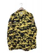 A BATHING APE(アベイシングエイプ)の古着「1stカモミリタリーシャツジャケット」|オリーブ