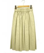 ()の古着「リネンコットンスカート」|ベージュ