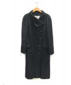 MaxMara(マックスマーラ)の古着「アルパカウールシャギーコート」|ブラック