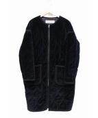 THE SHINZONE(ザ シンゾーン)の古着「ベルベットキルティングコート」|ネイビー