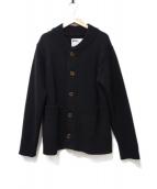 MHL(エムエイチエル)の古着「ニットカーディガン」|ブラック