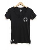 CHROME HEARTS(クロムハーツ)の古着「VネックTシャツ」|ブラック