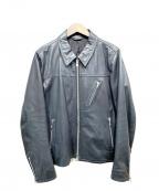 SHIPS JET BLUE(シップスジェットブルー)の古着「ラムレザーシングルライダースジャケット」 ブラック