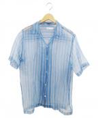 CMMN SWDN(コモン スウェーデン)の古着「シルクシャツ」|ブルー
