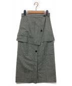SAYAKA DAVIS(サヤカ デイビス)の古着「チェックレイヤードスカート」|グレー