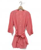 FUMIKA UCHIDA(フミカ ウチダ)の古着「SILK SLEEP SHIRTS」|ピンク