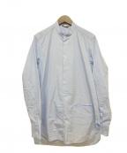 BARENA(バレナ)の古着「バンドカラーシャツ」|ライトブルー