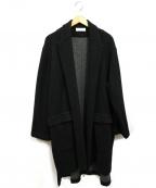 THEE(シー)の古着「ニットガウンコート」|ブラック