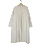 Plage(プラージュ)の古着「ハミルトンノーカラーコート」 ホワイト