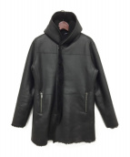 junhashimoto(ジュンハシモト)の古着「MOUTON WRAP COAT」|ブラック