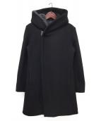 junhashimoto(ジュンハシモト)の古着「STEIFF WRAP COAT」|ブラック