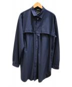 Manastash(マナスタッシュ)の古着「ナイロンシャツジャケット」|ネイビー