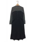 JILL STUART(ジルスチュアート)の古着「ドッキングワンピース」|ブラック