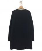YOKO CHAN()の古着「バックプリーツワンピース」|ブラック