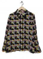 alice+olivia(アリスアンドオリビア)の古着「シルクシャツ」 ブラック