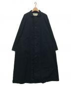 HARVESTY(ハーベスティー)の古着「OVER COAT」 ブラック