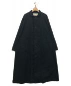 HARVESTY(ハーベスティ)の古着「OVER COAT」|ブラック