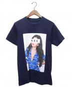 GOD SELECTION XXX(ゴットセレクショントリプルエックス)の古着「Tシャツ」|ネイビー