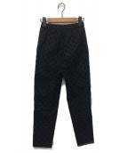 YORI(ヨリ)の古着「フロッキードットパンツ」|ブラック