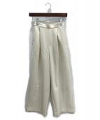 ENFOLD(エンフォルド)の古着「ワイドパンツ」|オフホワイト