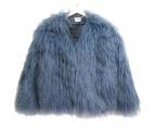 ROSEanna(ローズアンナ)の古着「COOKIEモンゴリアンファージャケット」 ブルー