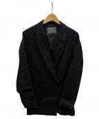 uncrave(アンクレイヴ)の古着「ベルジアンリネンジャケット」 ブラック