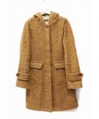 MACKINTOSH()の古着「アルパカモヘアフーデッドコート」|ブラウン