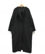 AP STUDIO(エーピーストゥディオ)の古着「Over Sized LAMB Coat」|ブラック