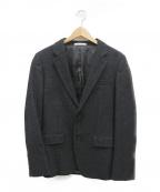 ck Calvin Klein(シーケーカルバンクライン)の古着「スーパーストレッチライトウールテーラードジャケット」|ブラック
