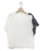 DRIES VAN NOTEN(ドリスバンノッテン)の古着「リボンTシャツ」|ホワイト