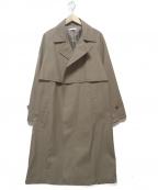 LIDnM(リドム)の古着「WOOL GABA TIERENCH COAT」|ブラウン