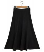 MUSE de Deuxieme Classe(ミューズデドゥーズィエムクラス)の古着「シルクストレッチロングスカート」|ブラック