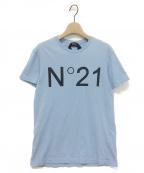 N°21 numero ventuno(ヌメロヴェントゥーノ)の古着「ロゴTシャツ」|ライトブルー