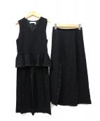 SEE BY CHLOE(シーバイクロエ)の古着「サイドジップセットアップ」|ブラック