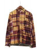 sacai(サカイ)の古着「チェックシャツ」|ブラウン×パープル