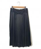 tricot COMME des GARCONS(トリココムデギャルソン)の古着「キュプラドレープフレアスカート」 ブラック