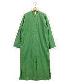 nagonstans(ナゴンスタンス)の古着「シャツワンピース」|グリーン