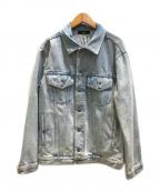 DIESEL()の古着「Devise デストロイダメージ加工デニムジャケット」|インディゴ