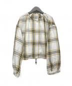 DRESSLAVE(ドレスレイブ)の古着「タータンチェックノーカラージャケット」